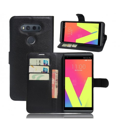 LG V20 Wallet leather cover case + combo