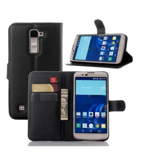 LG K10 Wallet leather cover case + combo