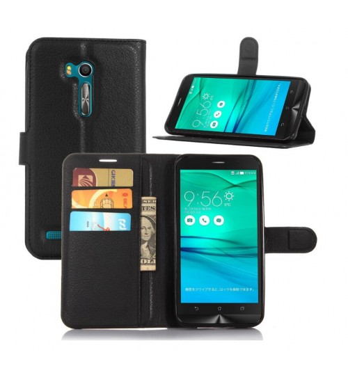 Asus ZenFone Go ZB551KL  case wallet leather case+Pen