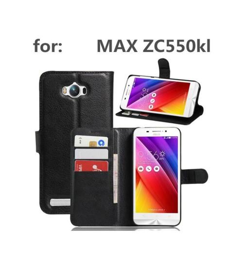 Asus zenfone MAX ZC550KL case wallet leather case+Pen