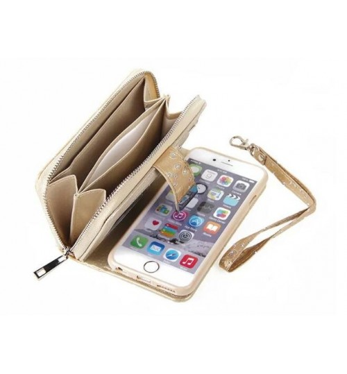 new style 8d84f 3d95b Buy iPhone 6 6s bling leather wallet case detachable zip online at ...