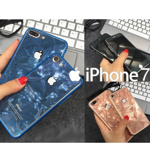 iPhone 7 Mirror Tempered Glass Screen Guard 3D Diamond Screen Protector