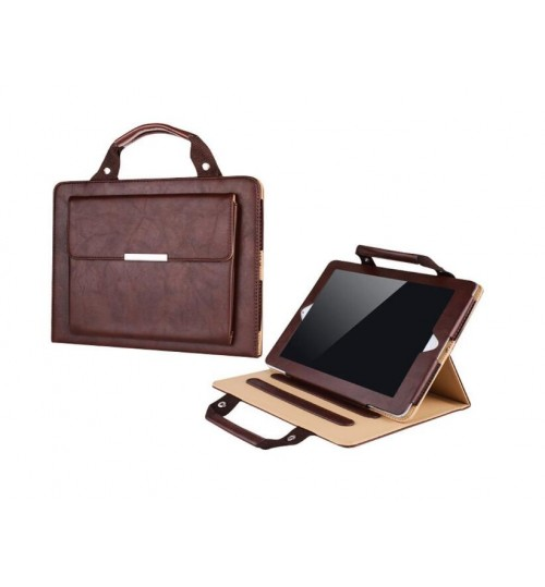 Ipad 2 3 4 Luxury Handle Bag folio PU Leather Case Cover With Stand