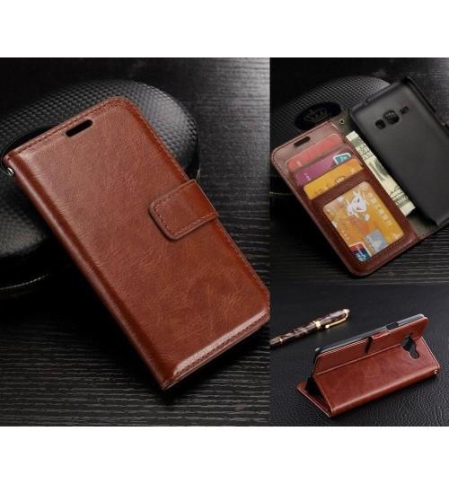 Galaxy J5 2016 vintage fine leather wallet case+Combo