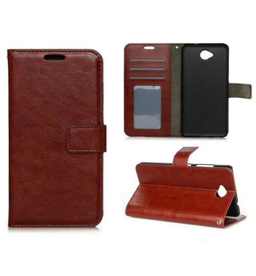 Nokia Lumia 650 vintage fine leather wallet case+Combo