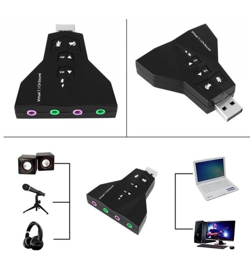 Virtual 7.1 Dual USB Sound Adapter