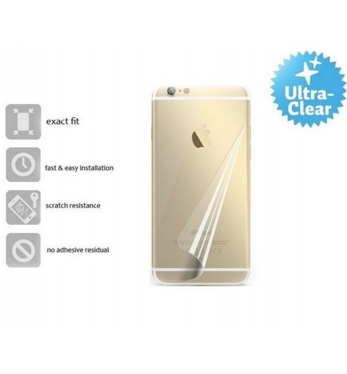 Iphone 5 5s se back screen protector clear
