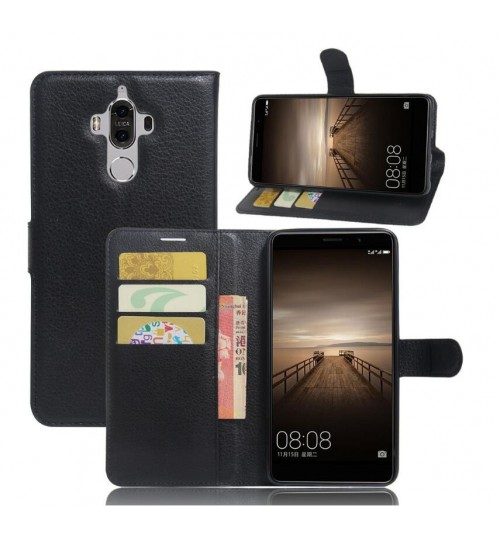 Huawei Mate 9 wallet leather case+Pen