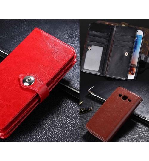 Galaxy J7 double wallet leather case