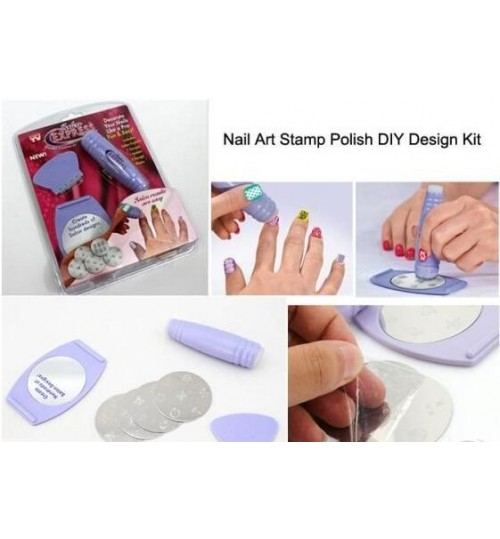 Nail Art Stamp Polish DIY Kit