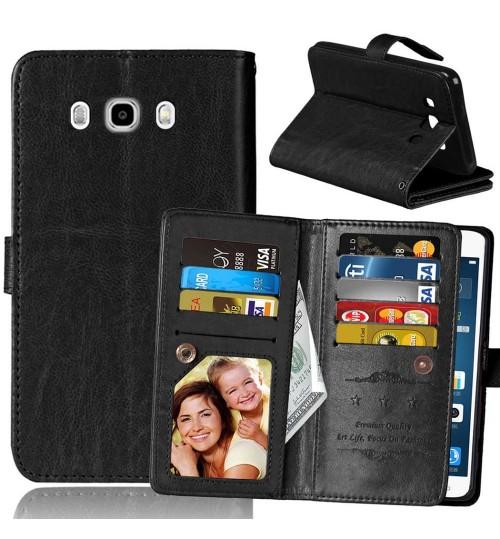 Galaxy J7 2016 double wallet leather case detachable