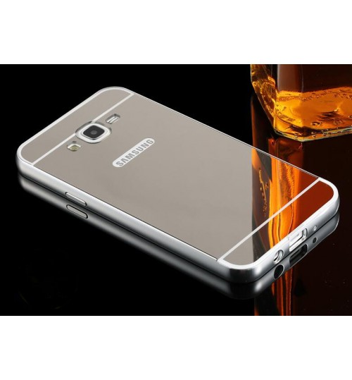 Galaxy J5 Slim Metal bumper with mirror back cover case
