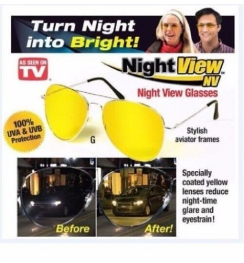 Mens Night View Vision Driving Driver's Anti-glare Glasses