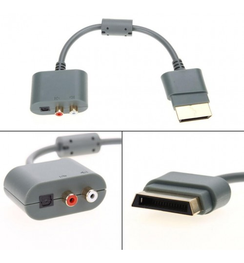 Optical Audio Adapter for Xbox 360 XBOX 360 SLIM HDMI AV Cable