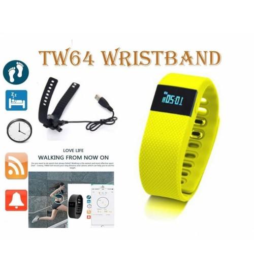 TW64 Bluetooth Smart Bracelet Sport Watch Step Calorie Fitness Tracker Pedometer