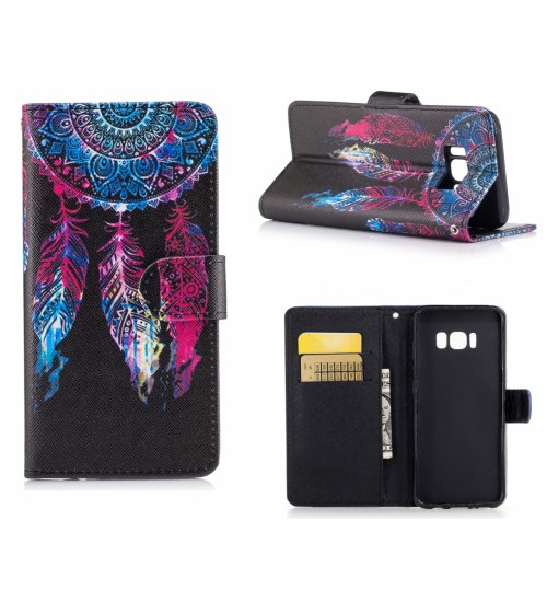 Galaxy S8 case wallet leather case printed