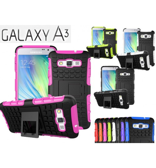 Galaxy A3 Case Heavy Duty Hybrid Kickstand+Combo