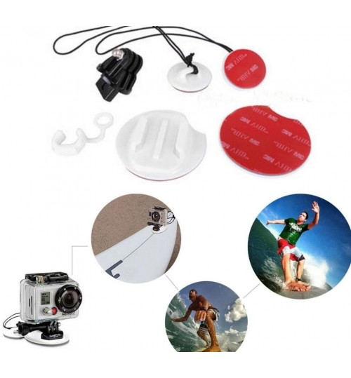 8 in 1 Surfing Mount Kit Pack Tethers Surfboard Rubber FOR Gopro Hero 4 3+ 3 2 1
