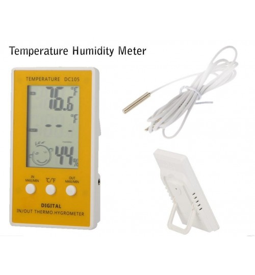 Indoor Outdoor Digital LCD Thermometer Hygrometer