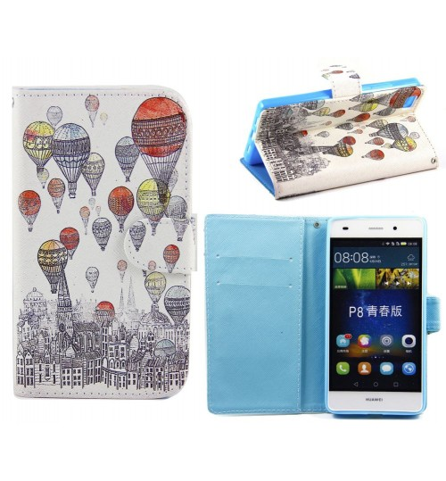 Huawei P8 LITE case wallet leather case printed