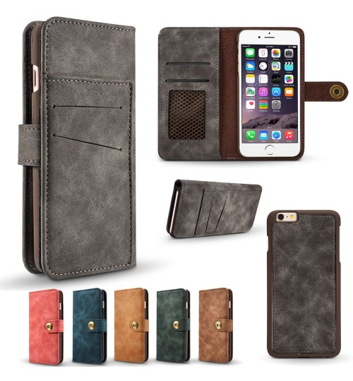 iphone 7 case wallet 4 cards leather detachable case