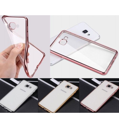 Galaxy A7 2017 case bumper w clear gel back cover