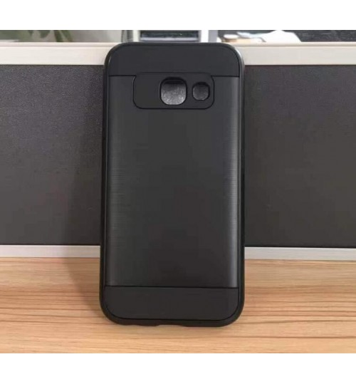 Galaxy A7 2017 impact proof hybrid case brushed
