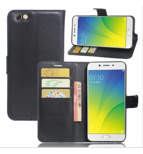Oppo F1S case wallet leather case w stand+combo