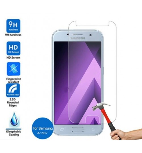 Galaxy A7 2017 Tempered Glass Protector 2.5D 0.26mm 9H