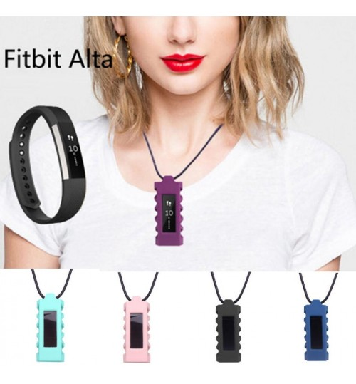 Fitbit Alta Watch Wristband Pendant Holder Cover Case Necklace