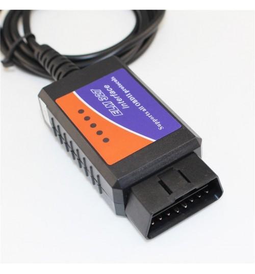 usb interface obdii obd2 diagnostic auto car scanner scan tool cable v1 5. Black Bedroom Furniture Sets. Home Design Ideas