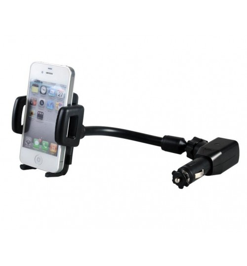 Car Charger Mount Holder for Cell Phone with 2 Dual USB Port