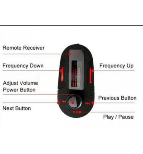 Car Wireless FM Transmitter Modulator MP3 Phone LCD Car Kit MP3 Music Player
