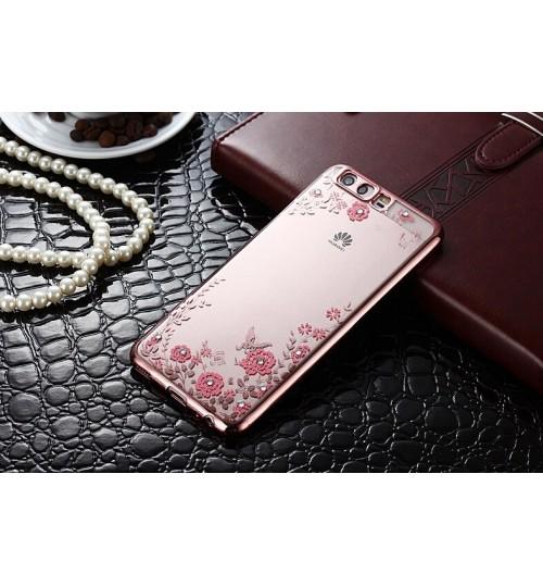 Huawei P10 Plus soft gel tpu case luxury bling shiny floral case