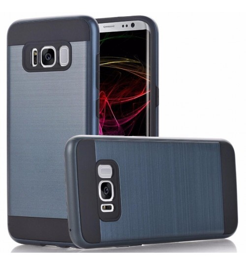 Galaxy S8 impact proof hybrid case brushed