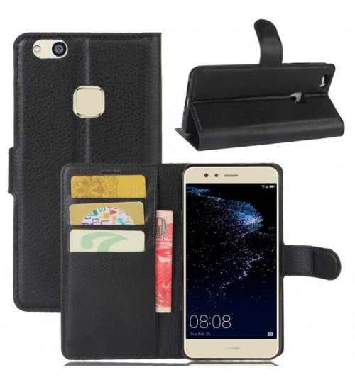 Huawei P10 lite wallet leather case cover