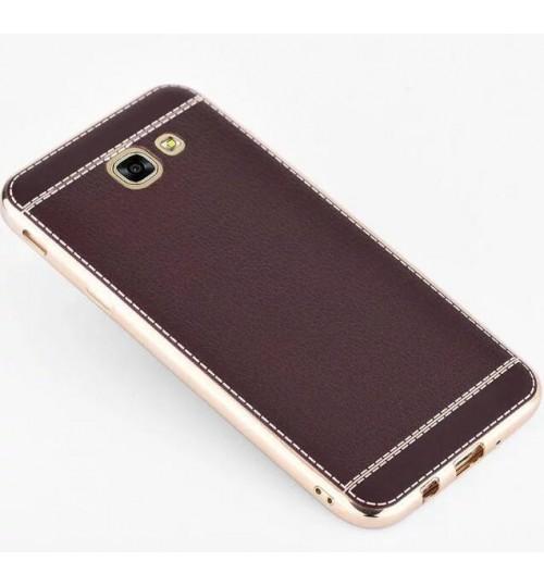 Galaxy A3 2017 Slim Bumper with back TPU Leather soft Case