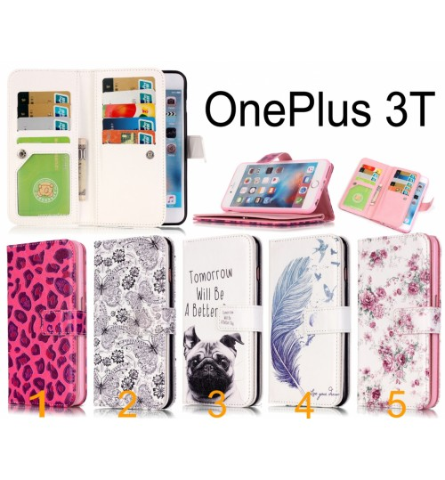 OnePlus 3T Multifunction wallet leather case OnePlus 3 Case Cover