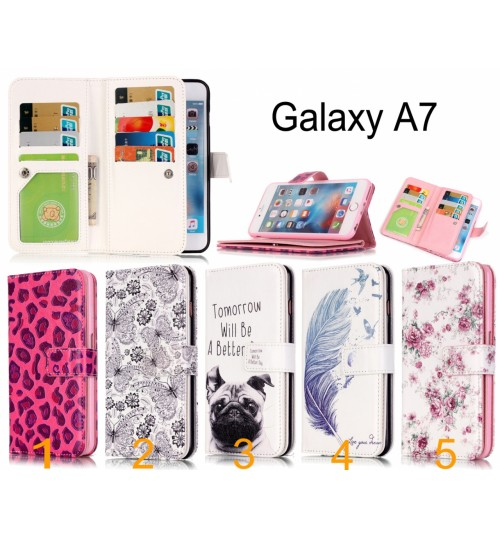 Galaxy A7 Multifunction wallet leather case cover