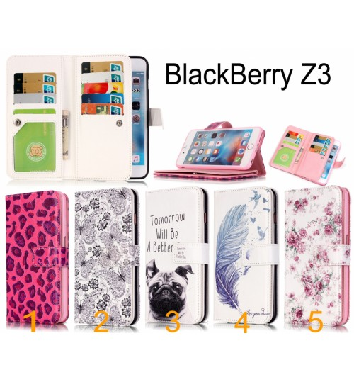 BlackBerry Z3 Multifunction wallet leather case cover