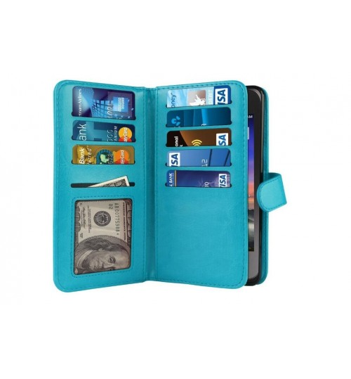 Meizu M3S Double Wallet leather case 9 Card Slots