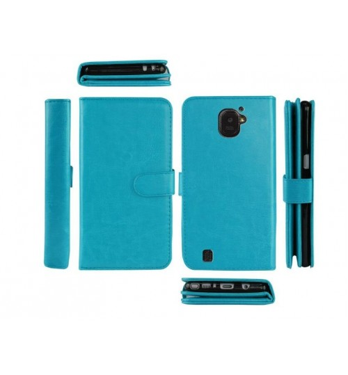 HTC Desire 10 Pro Double Wallet leather case 9 Card Slots