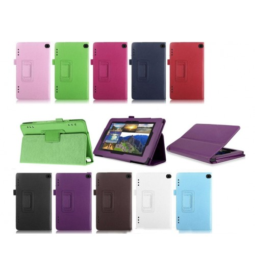 "Kindle Fire HD 6""  leather flip case w stand"