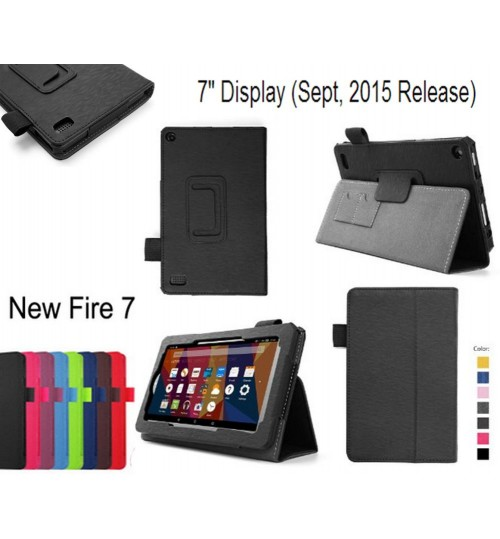 Amazon Kindle Fire 7 2015 Gen  leather flip case