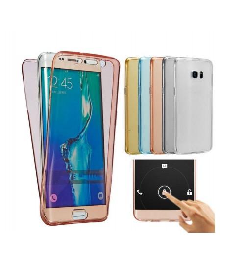 Galaxy s7 edge case 2 piece transparent full body protector case