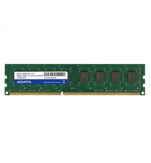 Adata 4GB DDR3 1600 DIMM 256 x 8 Lifetime wty