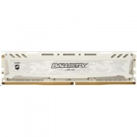 Crucial Ballistix Sport LT, 4GB White DDR4 2400 MT/s (PC4-19200) CL16 SR x8 Unbuffered DIMM 288pin