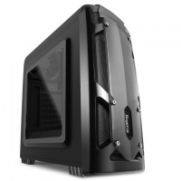 Segotep Polar Light Mini ATX Tower Case,with Front 12CM Red LED Fan (No PSU) - Black -,Front USB 3.0/2.0  & HD Audio