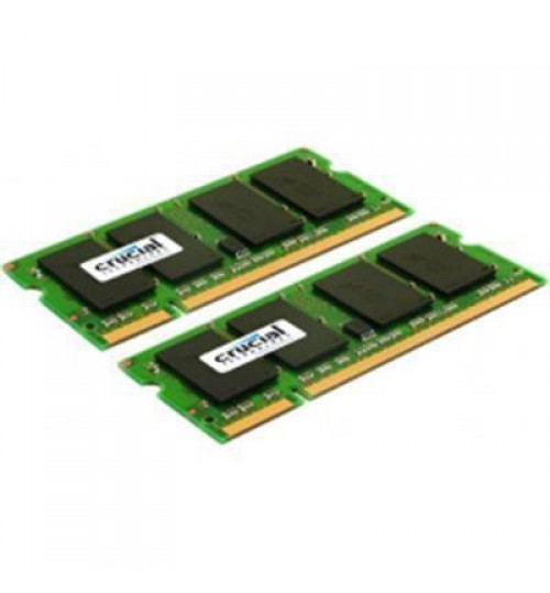 Crucial 4GB kit for Mac (2GBx2) DDR2  800MHz  (PC2-6400) CL6 SODIMM 200 pin for 2009  iMac,Macbook, Macbook Pro