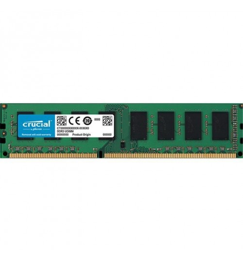 Crucial 4GB DESKTOP DDR3 1600Mhz DIMM 240pin Non ECC CL11 512M X 8 PC3-12800 Desktop RAM, 1.35v/1.5v